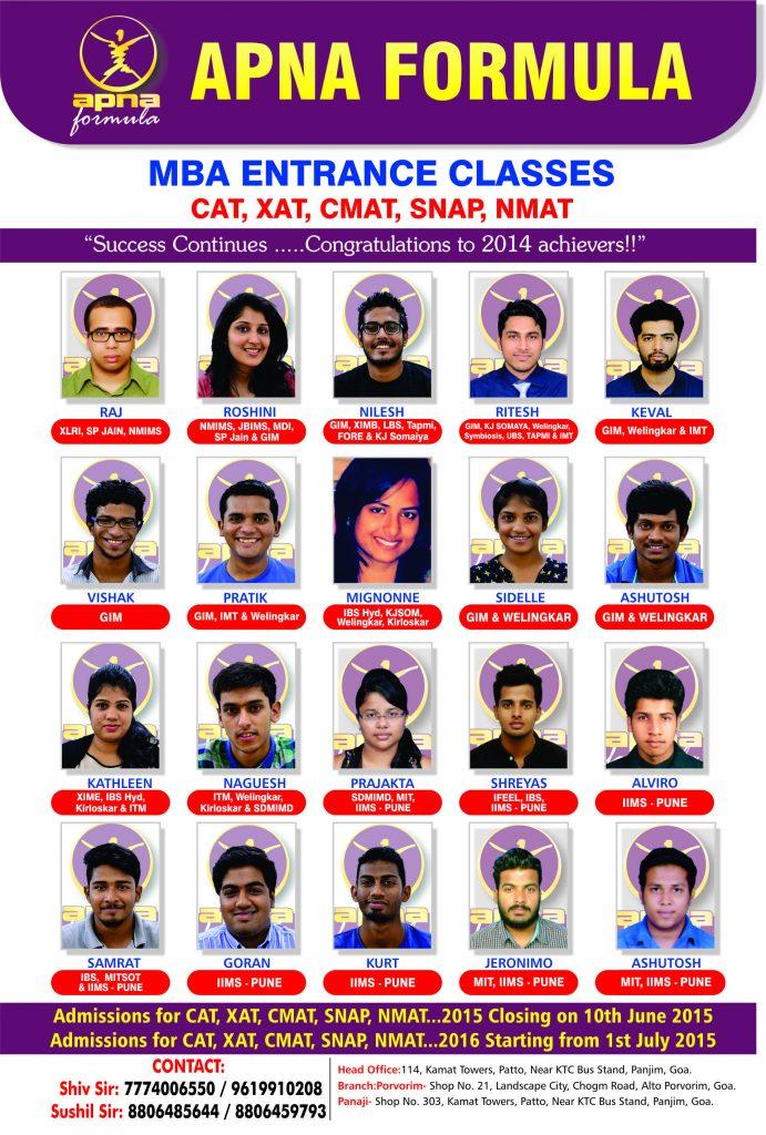Apna Formula MBA Entrance - Batch 2014
